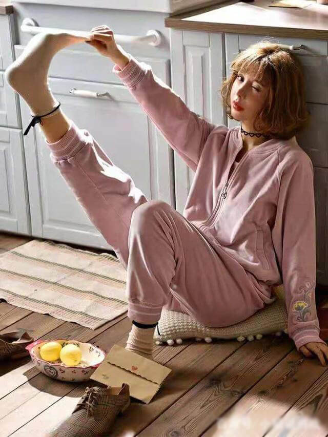 Pink cotton pajamas